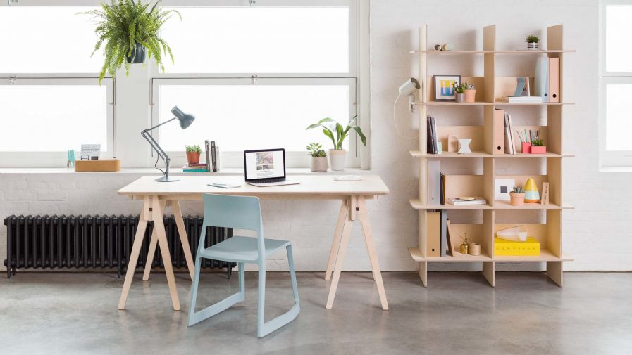 Opendesk Linnea bookshelf, bibliotheque design en bois situation 2