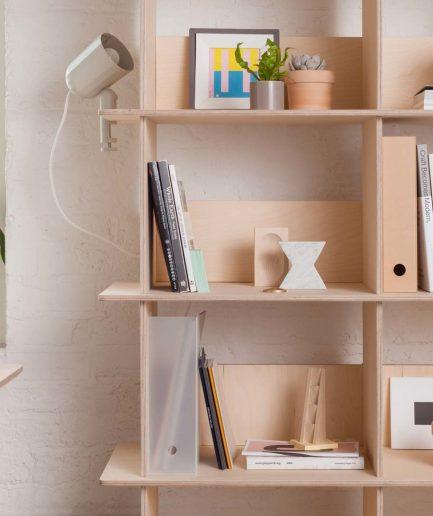 Opendesk Linnea bookshelf, bibliotheque design en bois