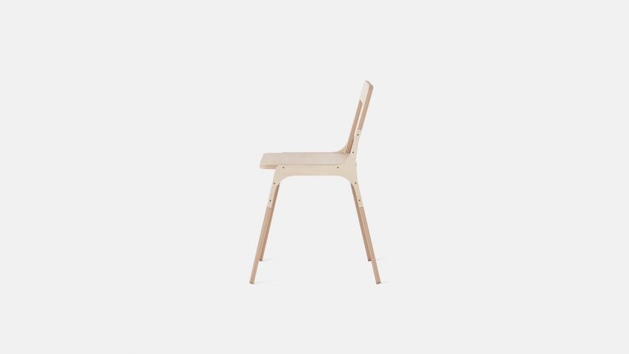 chaise bureau légère design en bois
