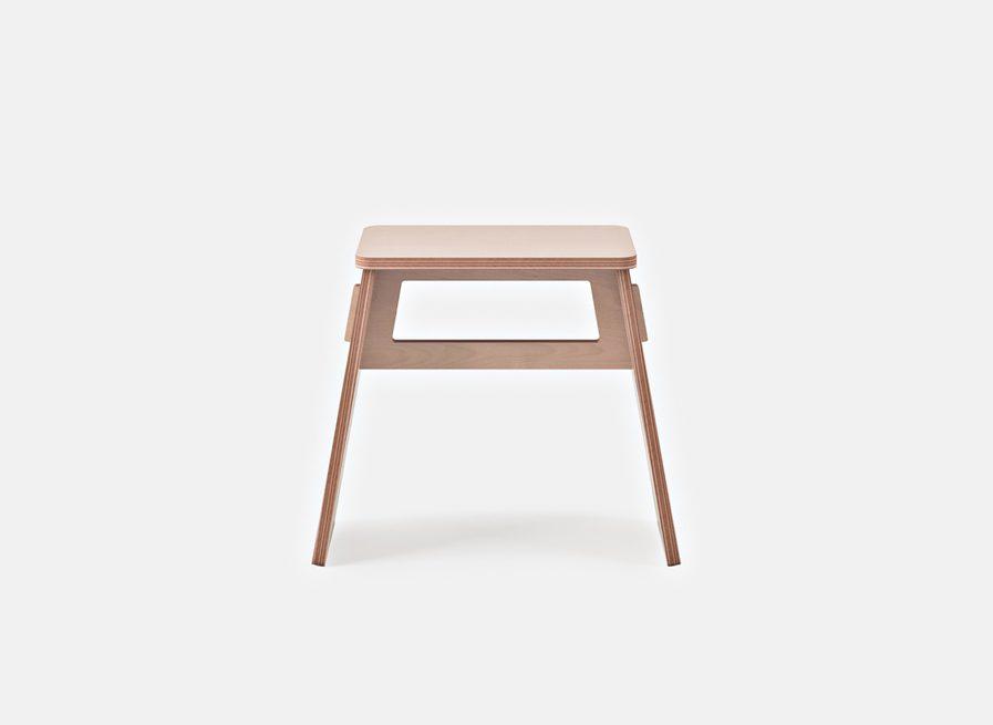 Tabouret design rond en bois