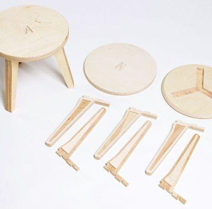 Tabouret design démontable et pratique