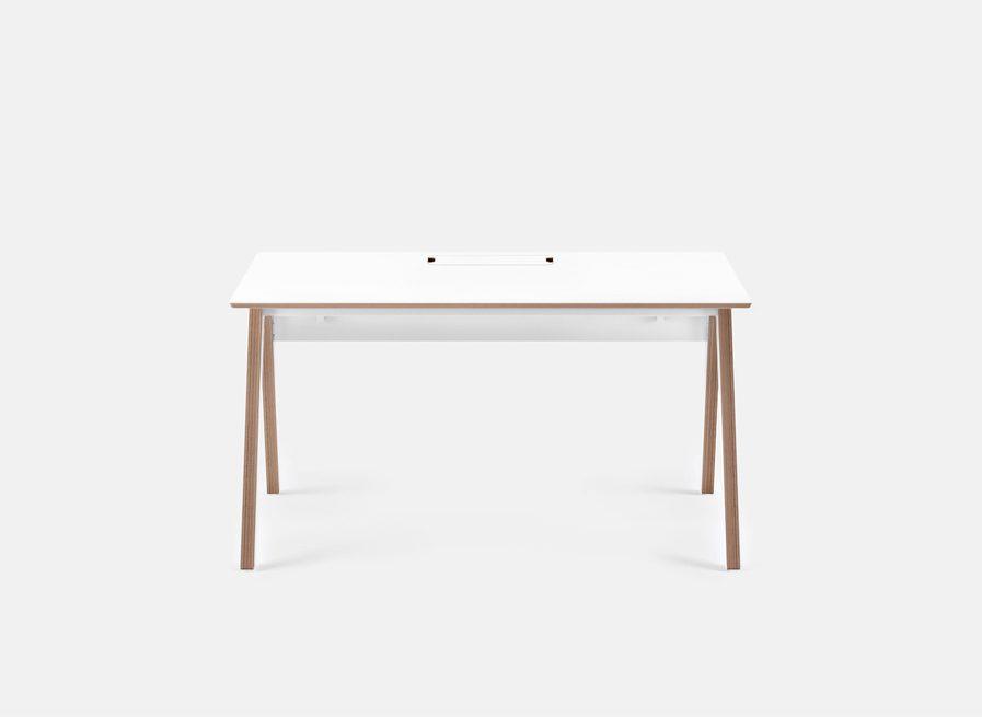 Meuble bureau individuel scandinave blanc