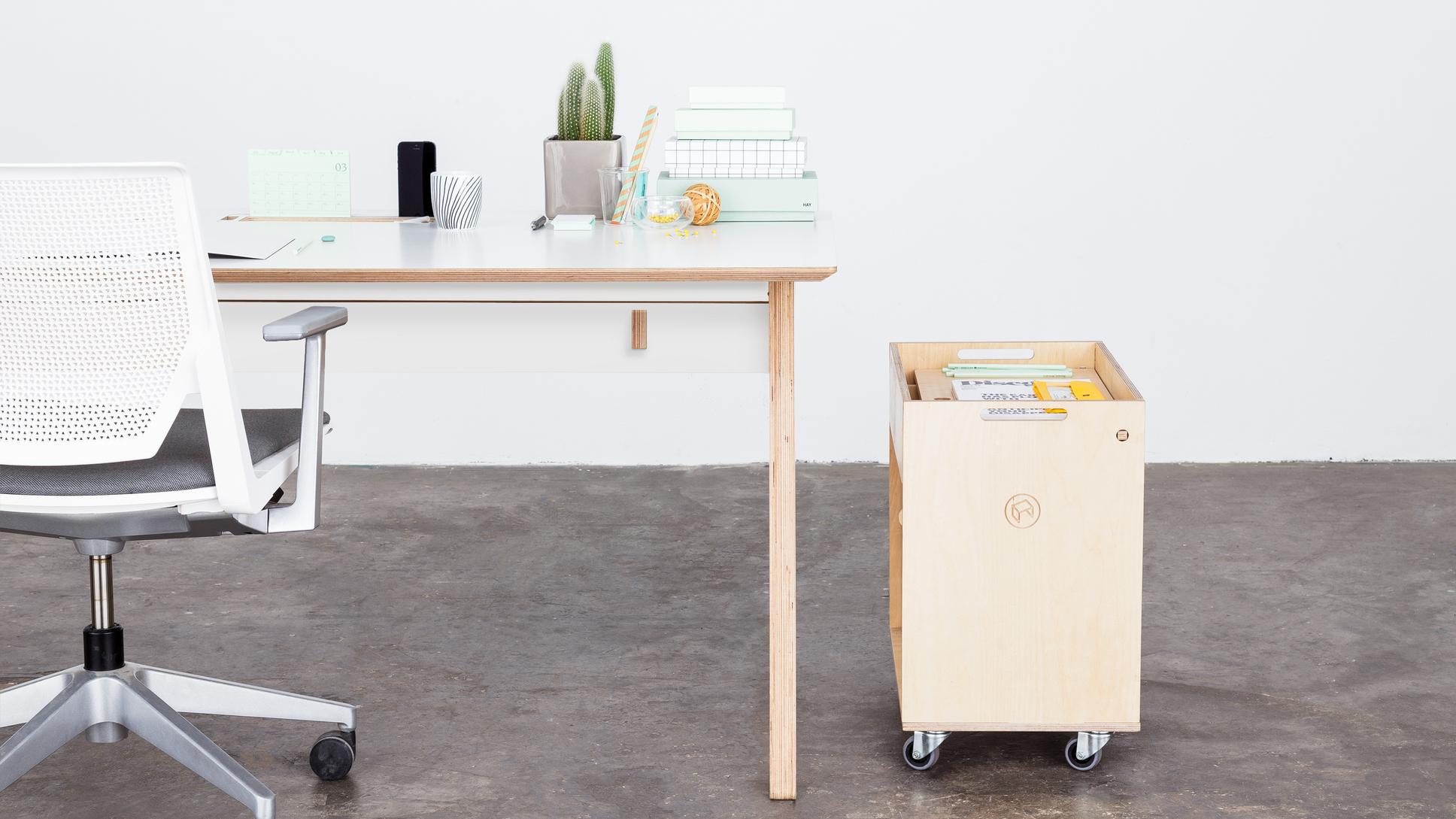 Bureau individuel en bois design opendesk studio desk ⋆ openwood