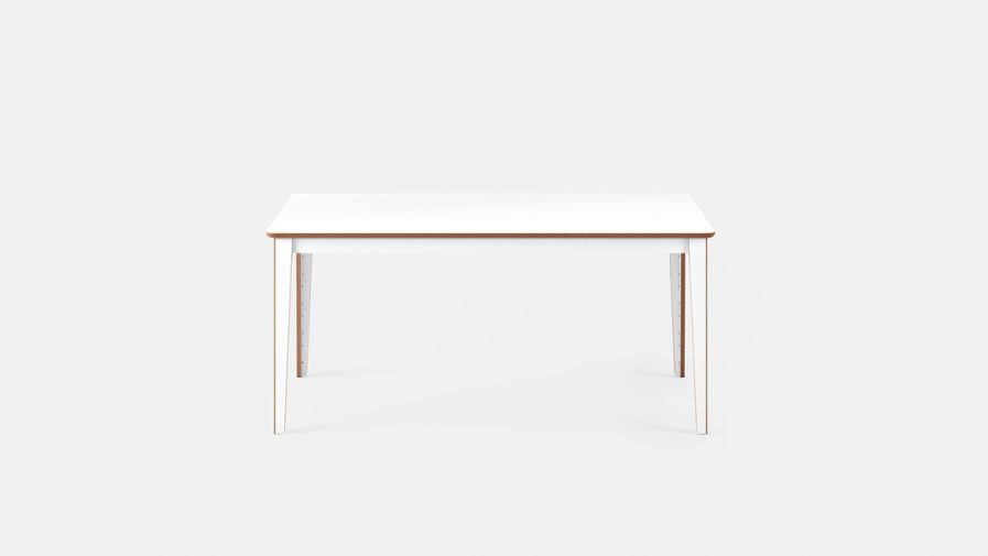 Table de reunion design mudulable fonction blanche