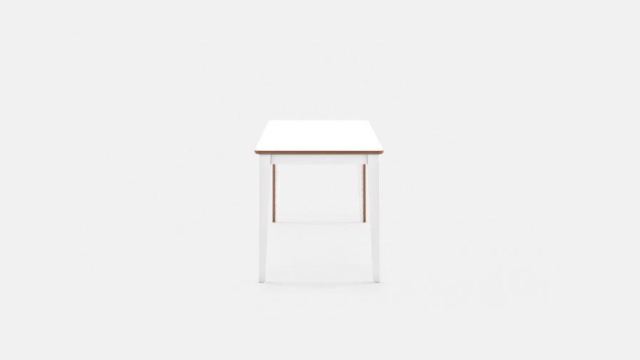Table de réunion multi-fonction blanche