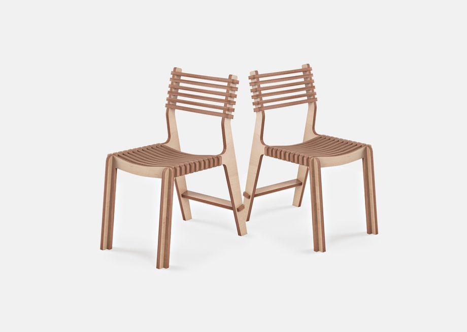 Chaises designs en bois