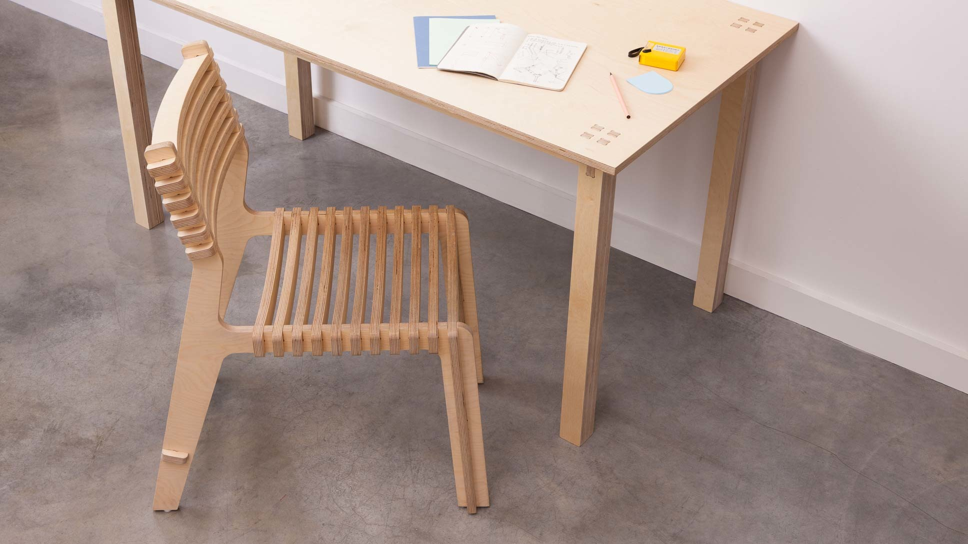 Chaise en bois design et ecologique made in france opendesk