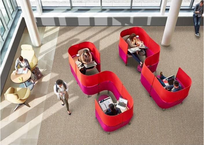 Un espace en S pour créer des espaces isolés en optimisant l'espace.