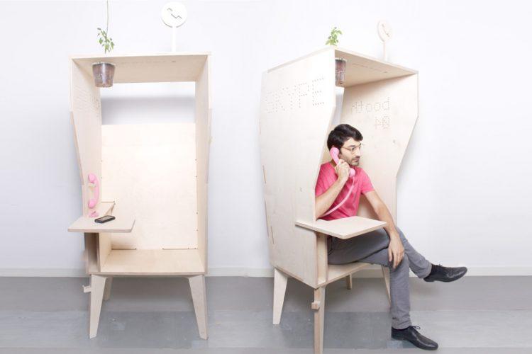 Une cabine pour téléphoner sans déranger les auttres