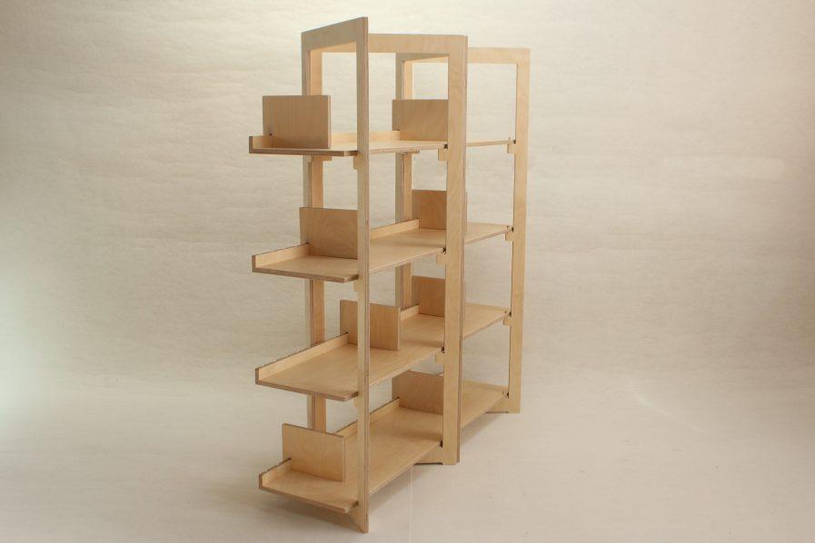 Bibliothèque pratique en bois