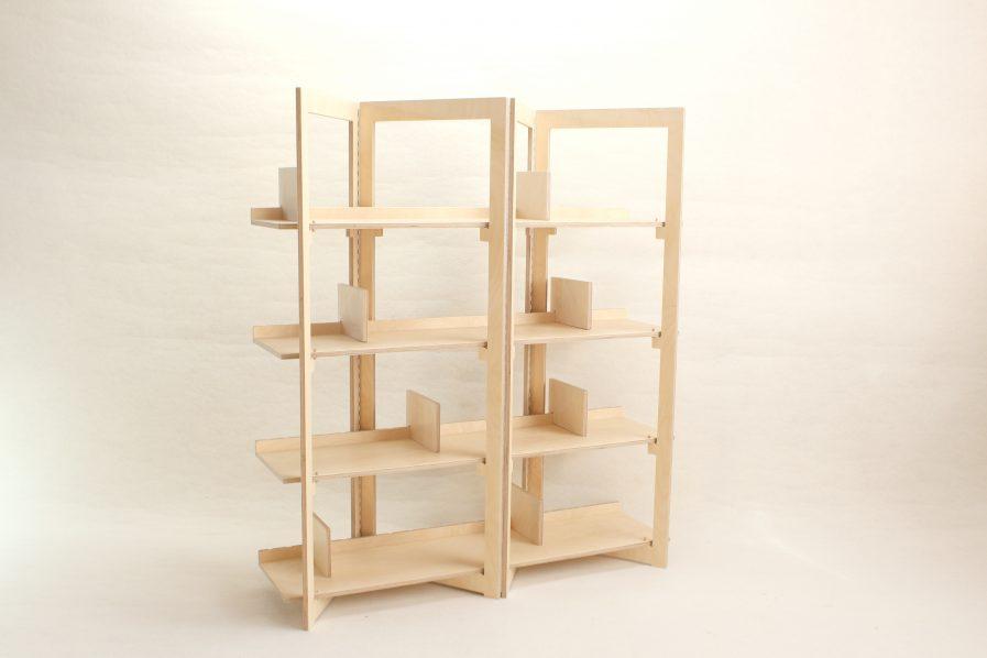 Bibliothèque pratique et design en bois