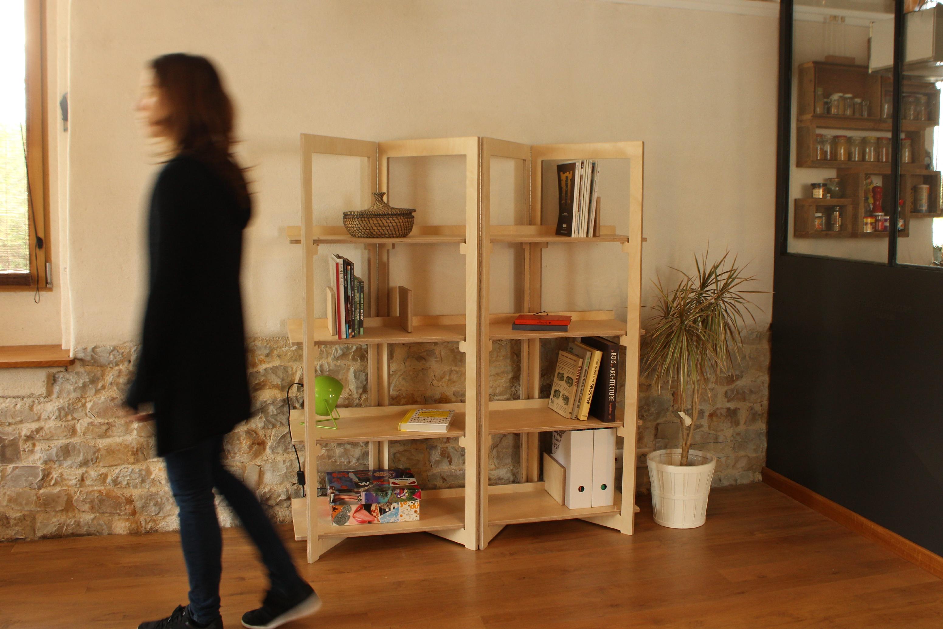 Biblioth Que Pratique Et Design En Bois Openwood # Meuble Bibliotheque Bois