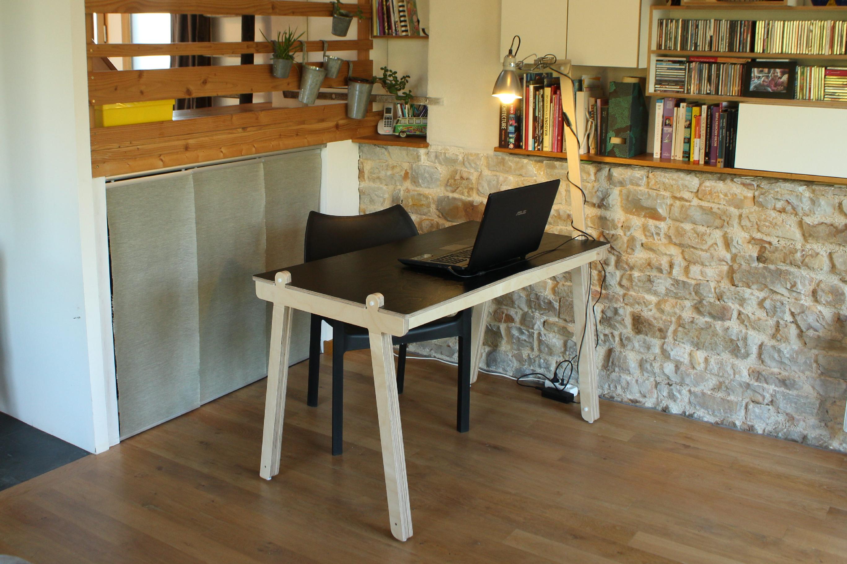 bureau design en bois made in france openwood. Black Bedroom Furniture Sets. Home Design Ideas