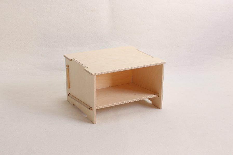 Rangements empilables en bois