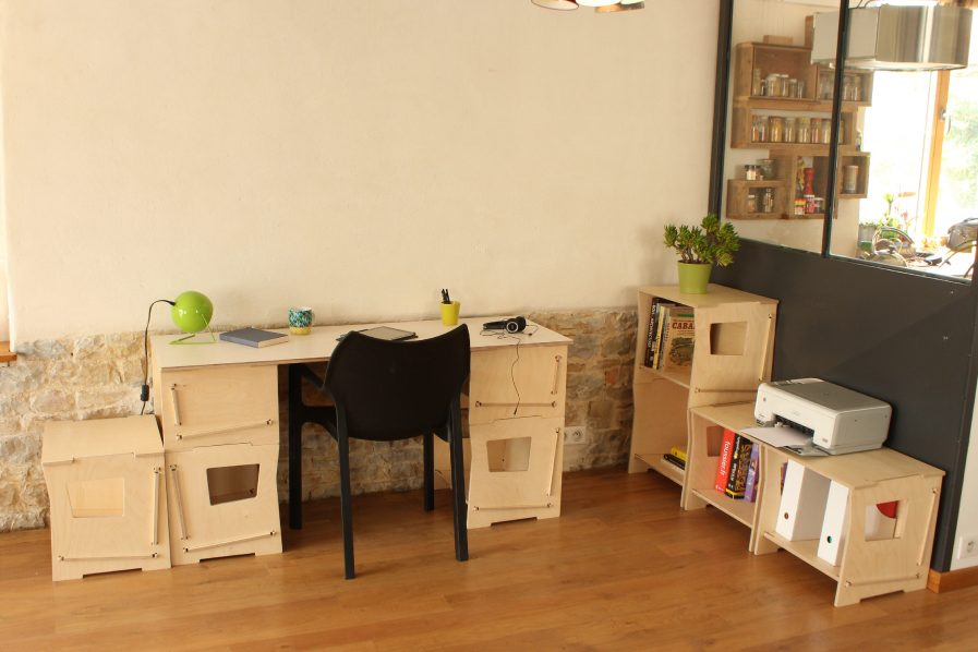 Meubles de rangement en bois designs et modulares