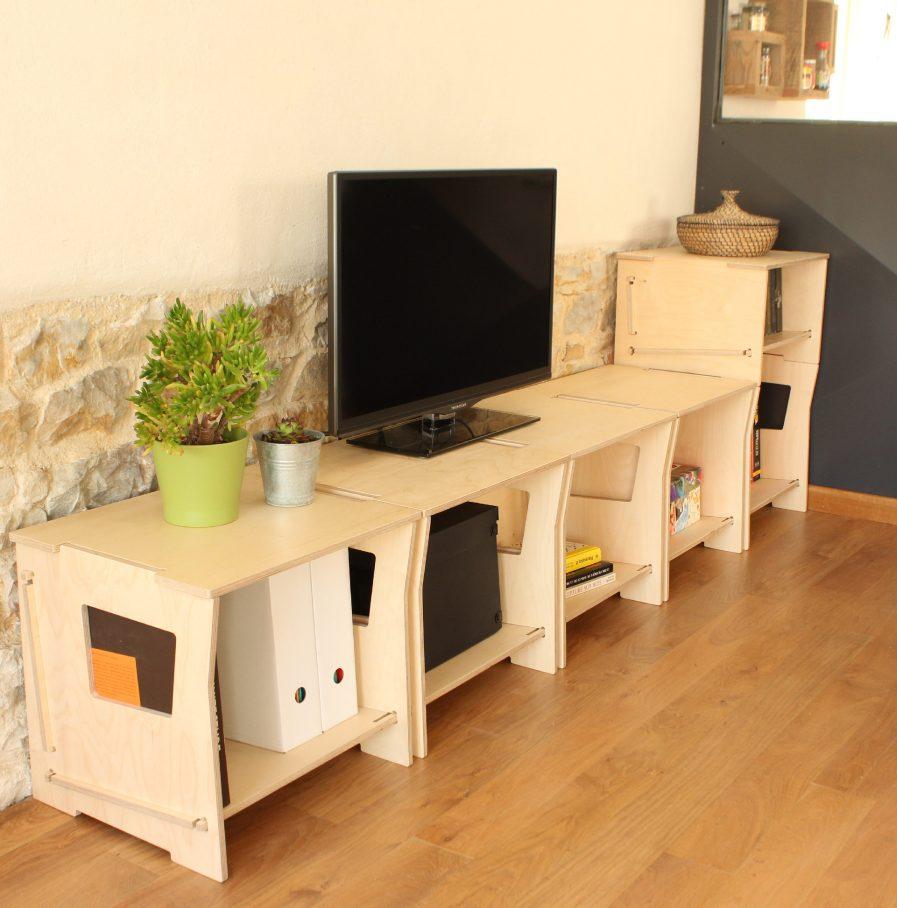 Meubles derangement en bois designs et modulares