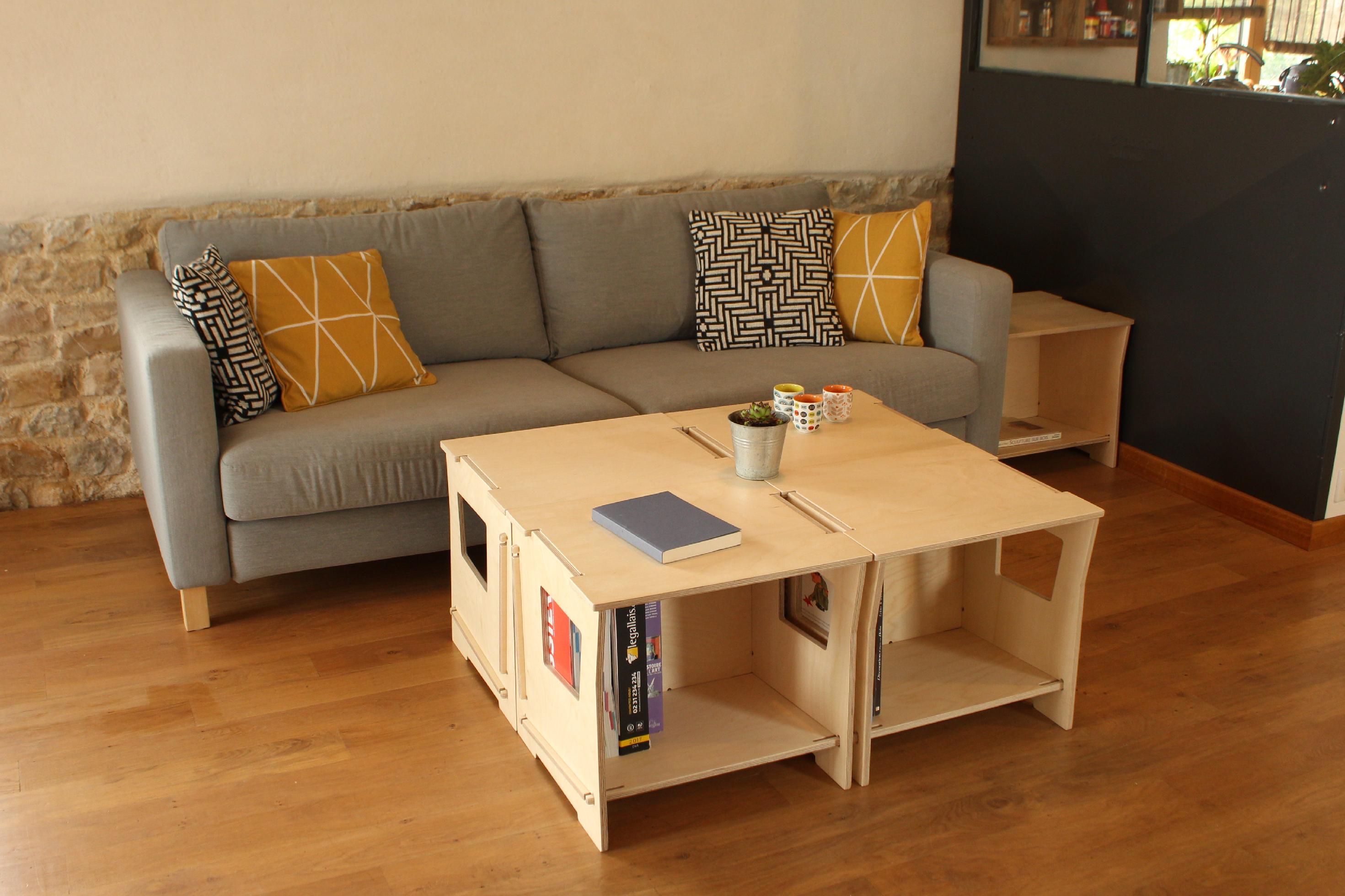 modules de rangement empilables pour cr er une tag re en. Black Bedroom Furniture Sets. Home Design Ideas