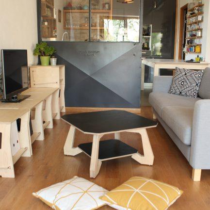 Table basse en bois design Atelier minassian