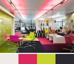 example de répercutions d'une palette sur un espace de bureau