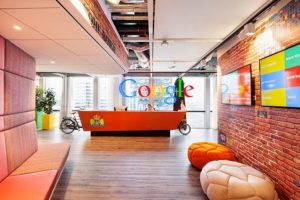 Hall d'accueil chez google