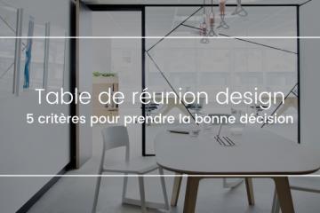 Table de réunion design
