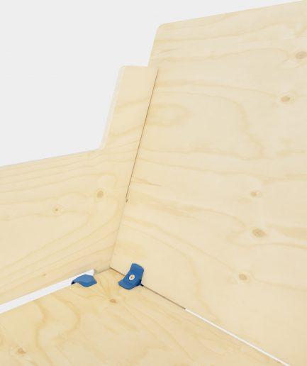 Fauteuil et table basse en bois design
