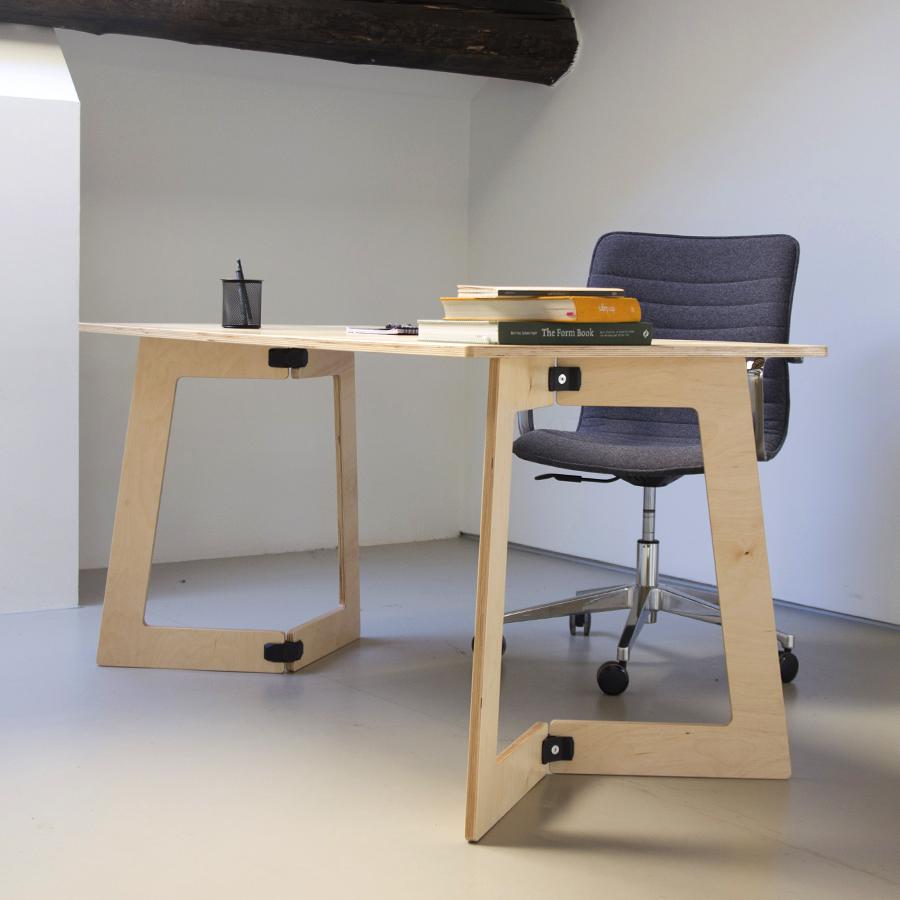 Petit Bureau En Bois D Montable Et Design Facile Transporter Et  # Bureaux En Bois