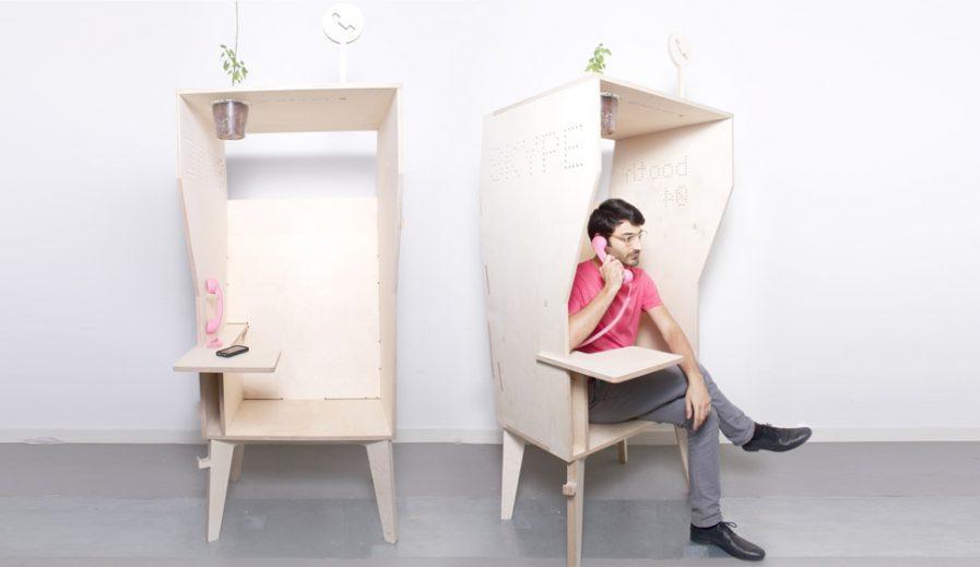 cabine téléphonique pour le bureau