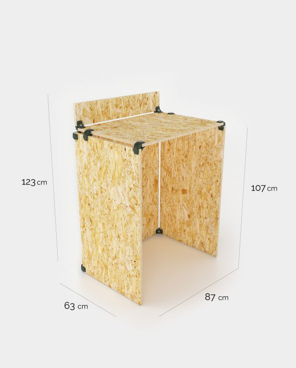 table debout en OSB dimensions