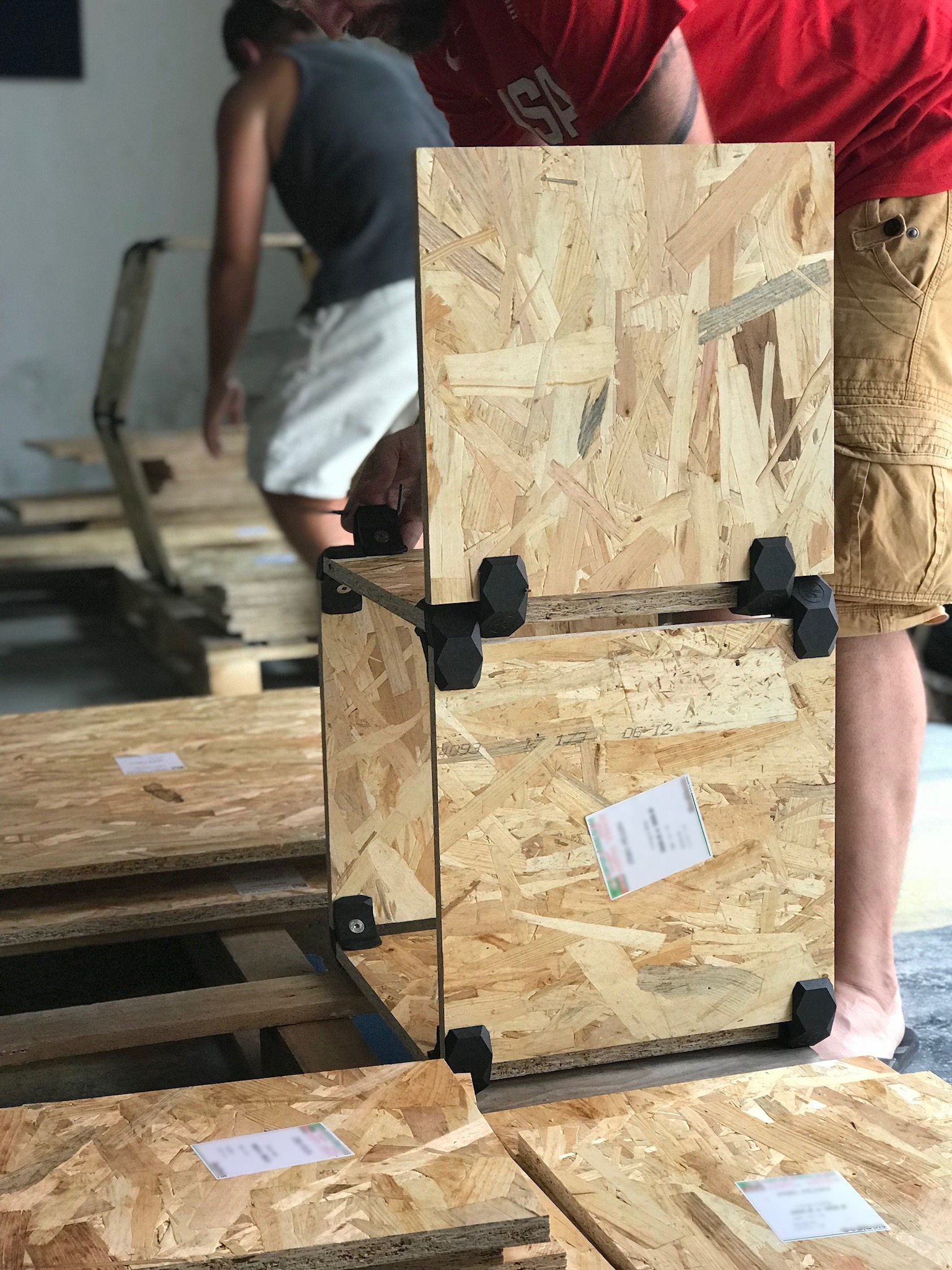 cubes de rangement modulaires en osb d montable 4 combinaisons possibles. Black Bedroom Furniture Sets. Home Design Ideas