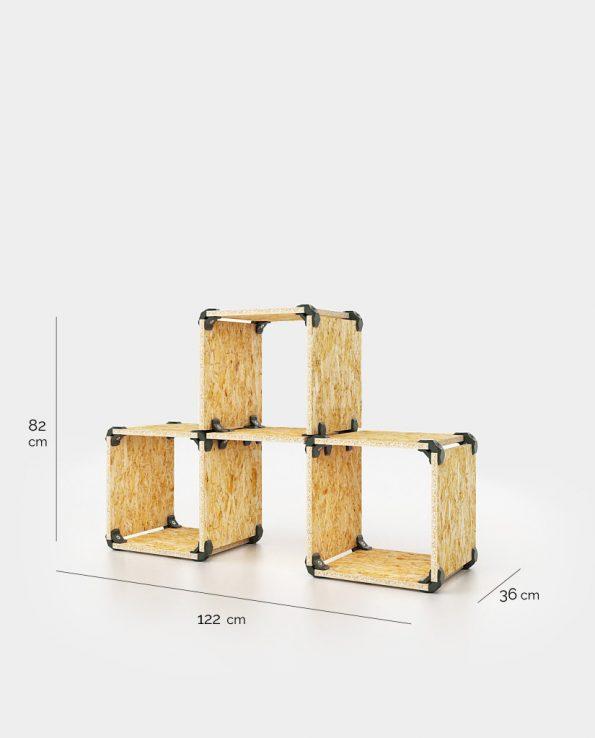 Cubes de rangement modulaires en OSB OpenWood