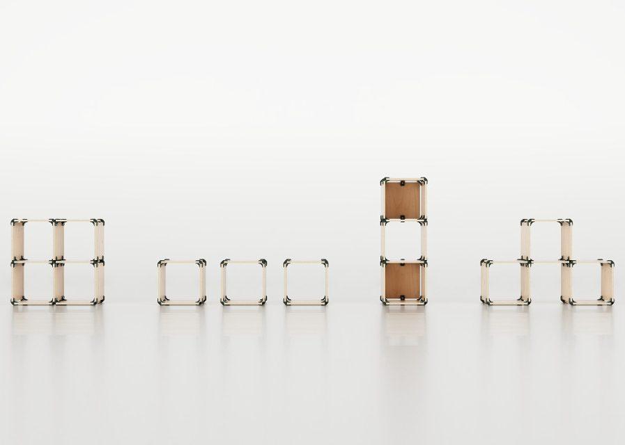Cube pouf en OSB exempe