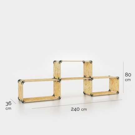 meuble de rangement simple en OSB dimensions
