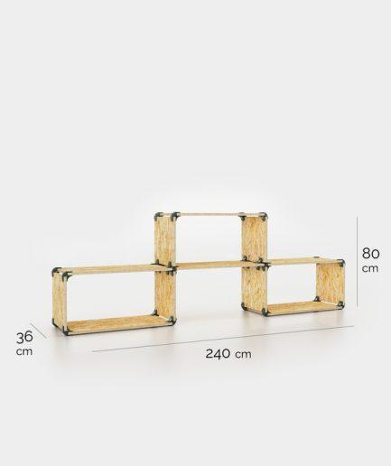 meuble de rangement simple en OSB dimensions
