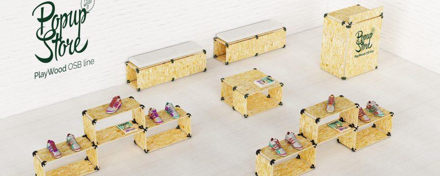 table debout en OSB pour votre stand