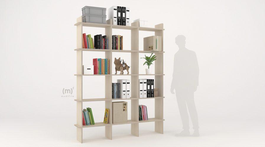 atlantide bookshelf bibliothèque simple