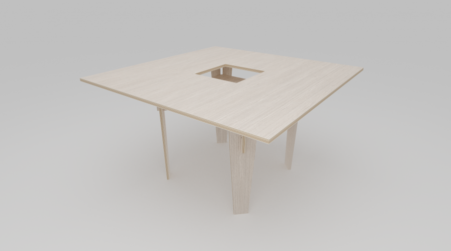 Table partagée design